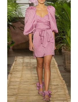 Exclusive Midnight Promises Satin Jacquard Dress by Johanna Ortiz