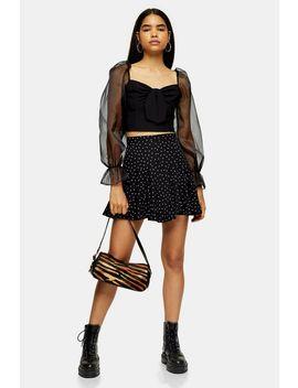 Black Star Flounce Mini Skirt by Topshop