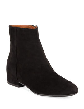 Ulyssa Waterproof Suede Ankle Boots With Hidden Wedge by Aquatalia