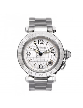 Cartier Stainless Steel 35mm Pasha Gmt Automatic Watch by Cartier