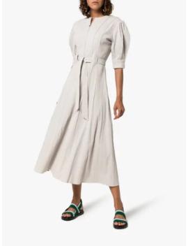 X Rude Pouf Sleeve Midi Dress by Ten Pieces