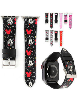 <Span><Span>Cartoon Mickey/Kitty Replaced Leather Watch Band Strap For Apple Watch 4 3 2 1</Span></Span> by Ebay Seller