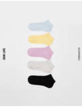 Σετ 5 ζεύγη κάλτσες σε ύφανση ριπ by Bershka