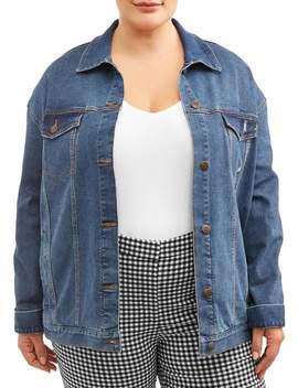 Terra & Sky Women's Plus Size Denim Jacket by Terra & Sky