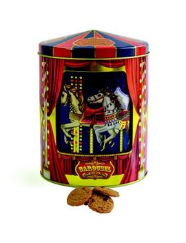 Silver Crane Musical Carousel Tin Filled With Choc Chip Cookies 300g by Biscuits