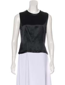Silk Sleeveless Top by Calvin Klein Collection