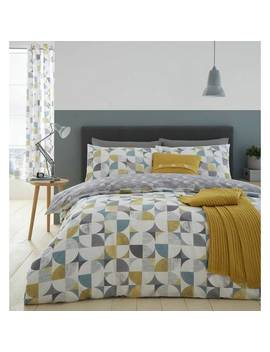 Catherine Lansfield Ochre Retro Circles Bedding Set   Double117/7334 by Argos