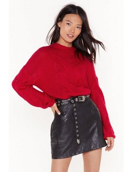Lay Your Cards On The Cable Knit Jumper by Nasty Gal