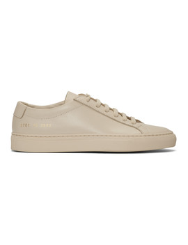 Beige Original Achilles Low Sneakers by Woman By Common Projects