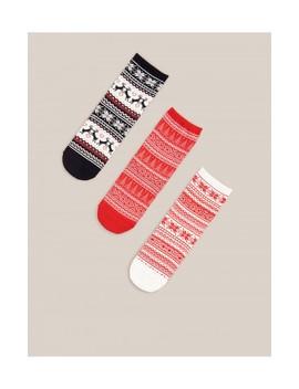 Sada 3Párů Ponožek SVánočním Motivem by Reserved