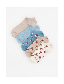 5 Balení Kotníkových Ponožek by Reserved