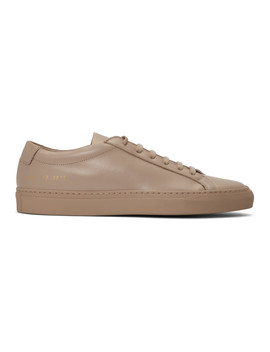 Ssense Exclusive Pink Original Achilles Low Sneakers by Woman By Common Projects