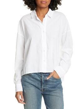 Boxy Cotton Lawn Shirt by James Perse