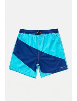 Iets Frans… Blue Panelled Swim Shorts by Iets Frans...