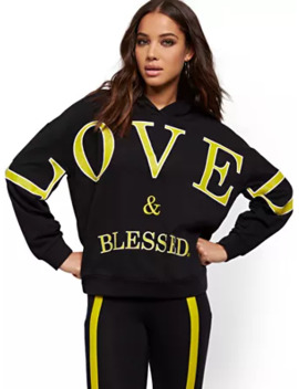 """Loved & Blessed"" Hooded Sweatshirt   Soho Street by New York & Company"