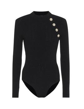 Ribbed Knit Bodysuit by Balmain