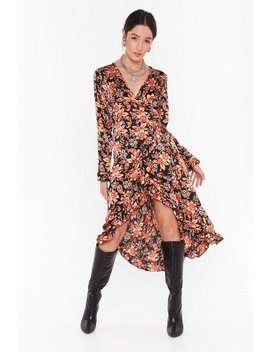 Paisley To Be Kind Satin Midi Dress by Nasty Gal