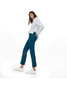 Women's Slim Fit Stretch Cotton Serge Pants by Lacoste