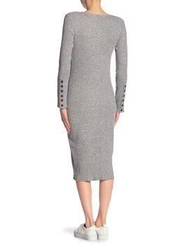 Long Sleeve Rib Knit Dress by Vince