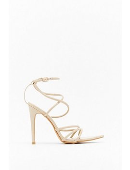 Dagger Strappy Heeled Sandals by Nasty Gal