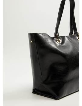 Shopper Bag Mit Ziernähten by Mango