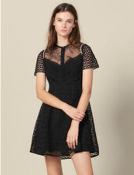 Guipure Skater Dress by Sandro Eshop