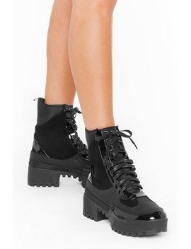 There's Been A Mix Up Chunky Hiker Boots by Nasty Gal