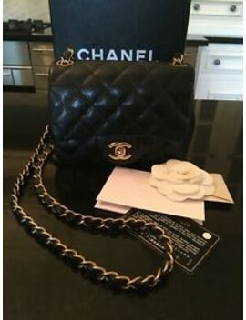 Chanel Mini Classic Flap Bag, Caviar Leather. by Ebay Seller