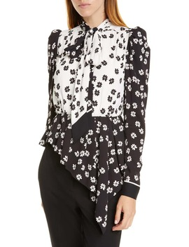 Daisy Print Asymmetrical Top by Self Portrait