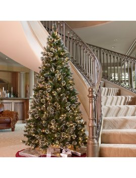 Glittery Pine Slim Pre Lit Christmas Tree by National Tree Company