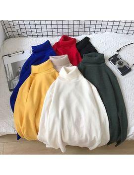 Bay Go Mall   Plain Turtleneck Sweater by Bay Go Mall