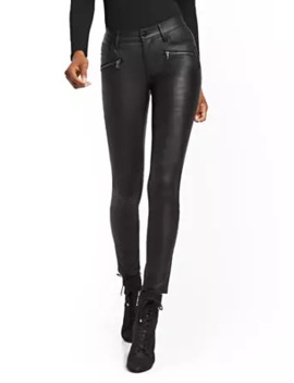 Mid Rise Super Skinny Jeans   Black Coated by New York & Company