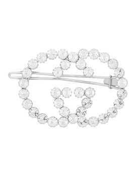 Silver Crystal Gg Barrette by Gucci