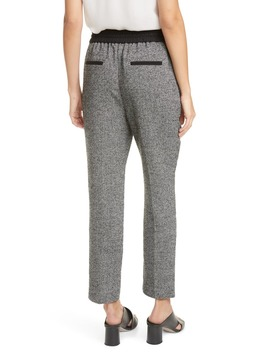 Mix Tweed Drawstring Pants by Tailored By Rebecca Taylor