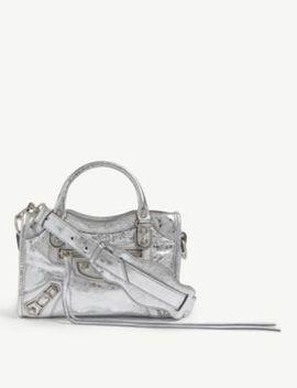 Mini City Lambskin Cross Body Bag by Balenciaga