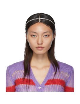 Silver Crystal Hairband by Miu Miu