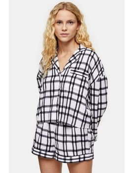 Black And White Check Boxy Pyjama Set by Topshop