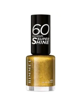 Rimmel 60 Seconds Glitter Nail Polish Gold by Superdrug