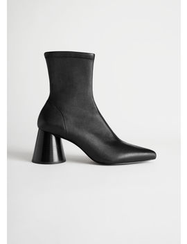 Pointed Leather Sock Boot by & Other Stories
