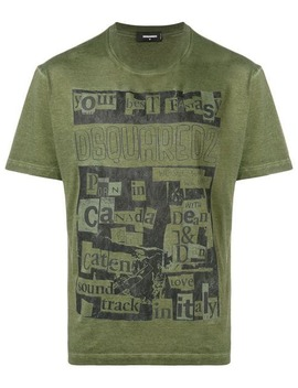 Collage Print T Shirt by Dsquared2