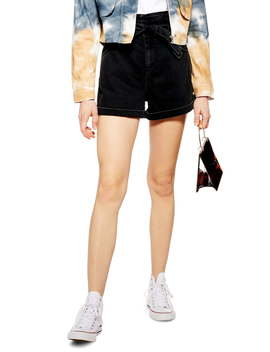 Paperbag High Waist Shorts by Topshop