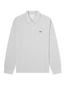 Lacoste Long Sleeve Marl Pique Polo by Lacoste