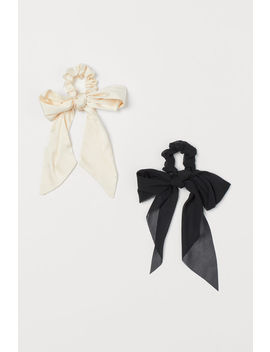 2 Pack Scrunchies With Bow by H&M