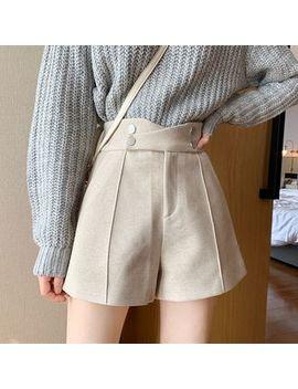 Newkoou   Asymmetric Woolen Shorts by Newkoou