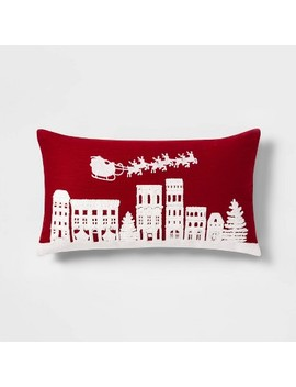embroidered-holiday-village-scene-oversize-lumbar-throw-pillow-red_white---threshold by shop-this-collection