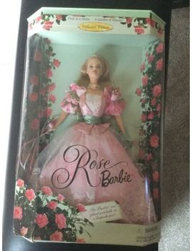 Rose Barbie Doll A Garden Of Flowers Collection 1998 Mattel New In Box by Mattel