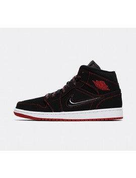 Air Jordan 1 Mid Fearless 'come Fly With Me' Trainer   Black / Gym Red / White by Jordan