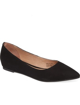 Laurel Pointed Toe Water Resistant Flat by Caslon