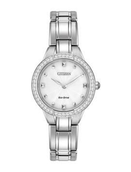 Women's Eco Drive Stainless Crystal Bezel Bracelet Watch, 28mm by Citizen
