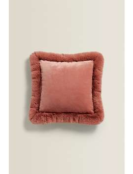 Furry Cushion by Zara